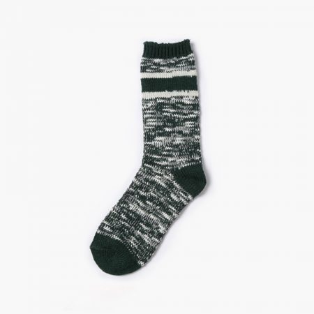Private label custom dress socks thick yarn-black