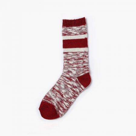 Private label custom dress socks thick yarn-red wine