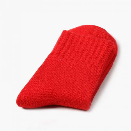 Private label dress socks basic socks rabbit wool-big red