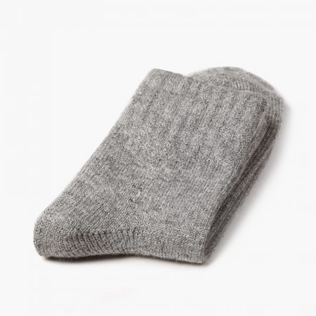 Private label dress socks basic socks rabbit wool-grey