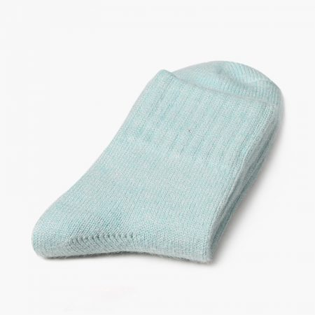 Private label dress socks basic socks rabbit wool-light green