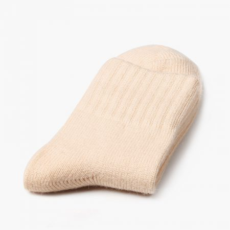 Private label dress socks basic socks rabbit wool-light yellow