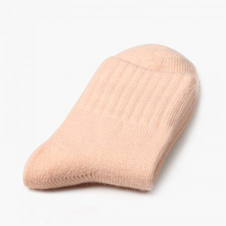 Private label dress socks basic socks rabbit wool-pink
