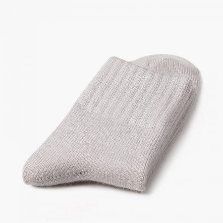 Private label dress socks basic socks rabbit wool-rice