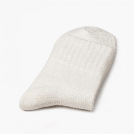 Private label dress socks basic socks rabbit wool-whirte