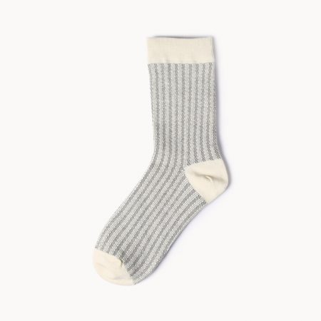 Private label dress socks girl stripe patterns-light
