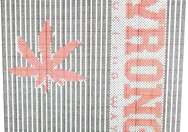 bitmap design used for knitting machine-pattern coding