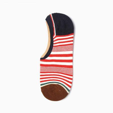 Stripes Invisible private label no-show socks unisex-black