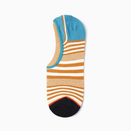 Stripes Invisible private label no-show socks unisex-blue