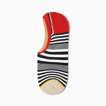Stripes Invisible private label no-show socks unisex-red