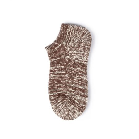Thick yarn basic knitting custom ankle socks-red wine