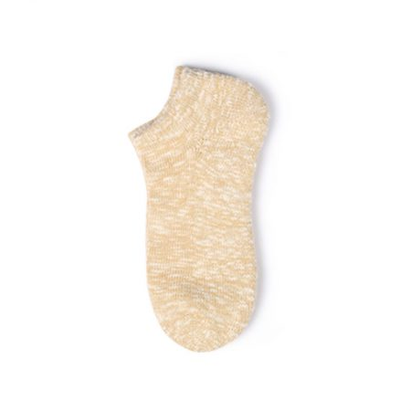 Thick yarn basic knitting custom ankle socks--straw color