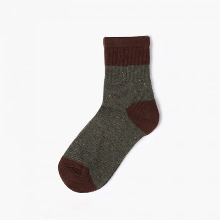 Thick yarn classic crew socks unisex-wine