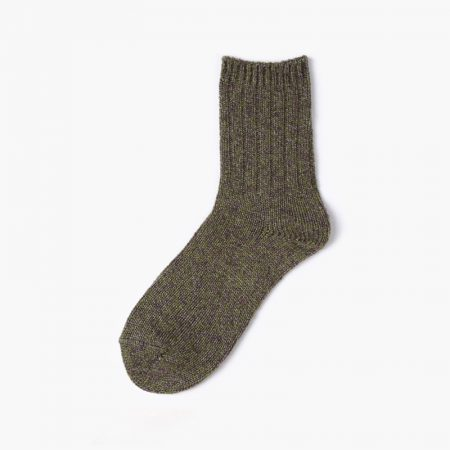 Thick yarn classic dress socks-brown