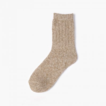 Thick yarn classic dress socks-straw