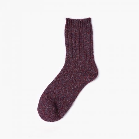 Thick yarn classic dress socks-wine