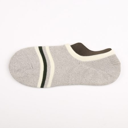 anti-slip terrry make-to-order no-show socks men-grey