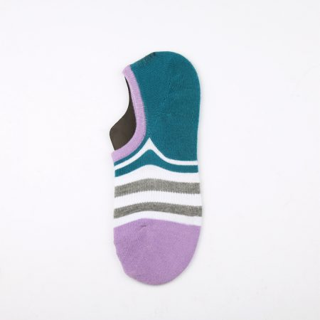 anti-slip wholesale no-show socks-purple