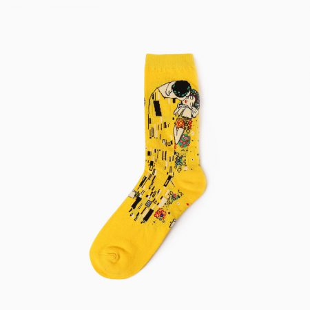 beloved oil-painting custom dress socks men-kiss