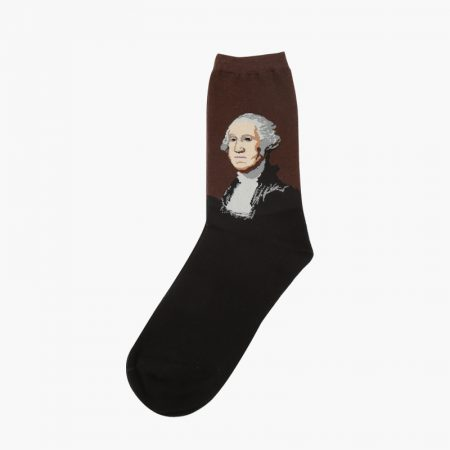beloved oil-painting custom dress socks men-washington