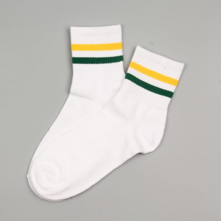 campus style custom crew socks unisex-yellow green
