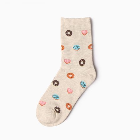carton custom dress socks unisex-donuts