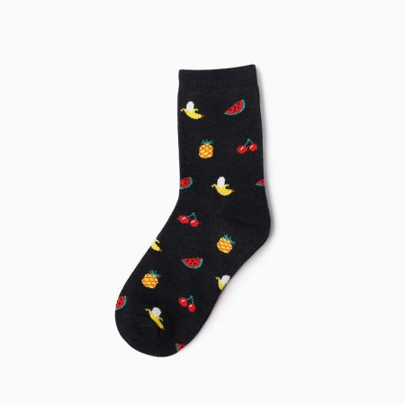 carton custom dress socks unisex-fruits