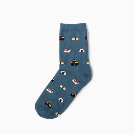 carton custom dress socks unisex-sushi