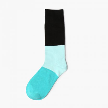 color blocks custom knee-high socks men- light green