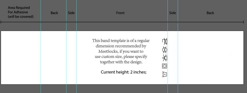 Custom sock band design template