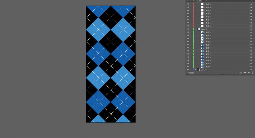 Custom sock flat design template