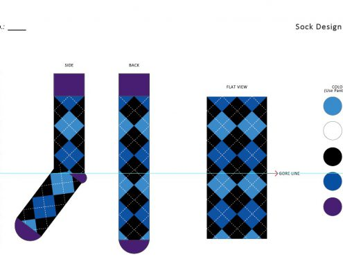 Custom sock mockup template
