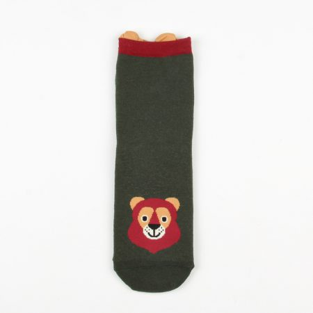 cute carton animals custom crew socks women-bear