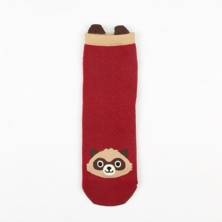 cute carton animals custom crew socks women-raccoon