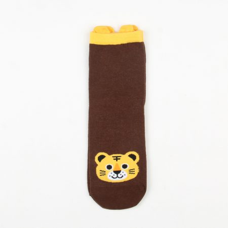 cute carton animals custom crew socks women-tiger