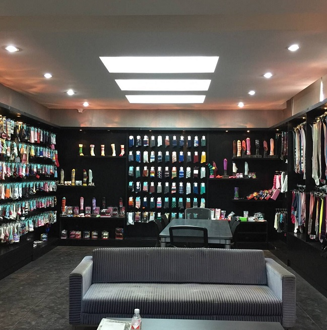 Our socks display room
