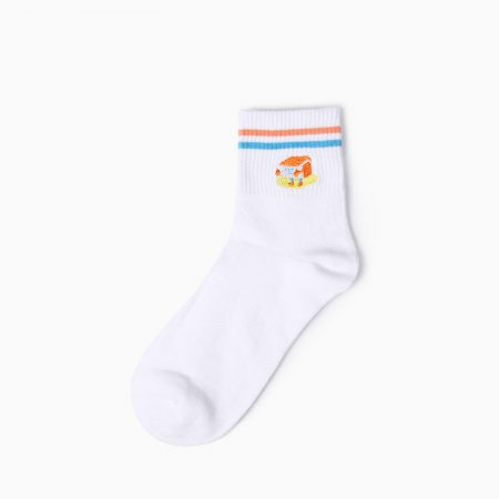embroidery private label crew socks-house