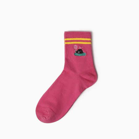 embroidery private label crew socks-shower
