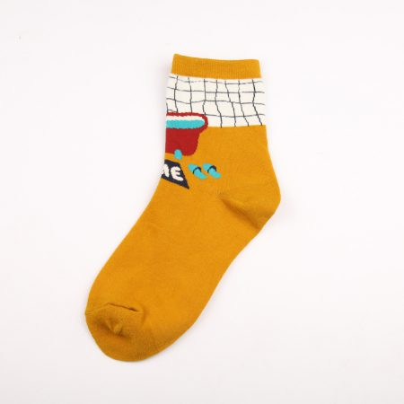 illustration home private label crew socks women-bathing