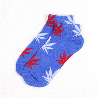 maple leaf wholesale ankle socksblue