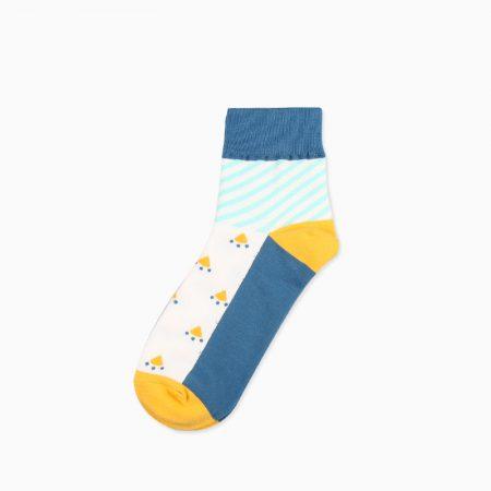 mountain custom crew socks unisex-blue