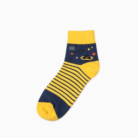 mountain custom crew socks unisex-yellow