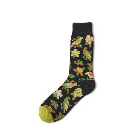 nature custom dress socks-birds flowers