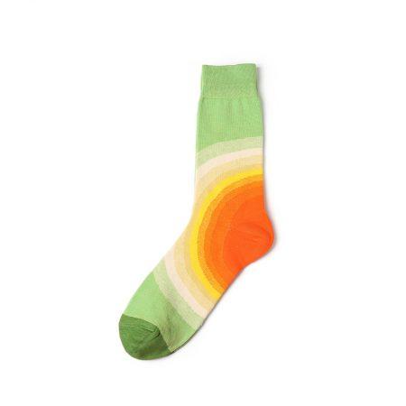 nature custom dress socks-rainbow