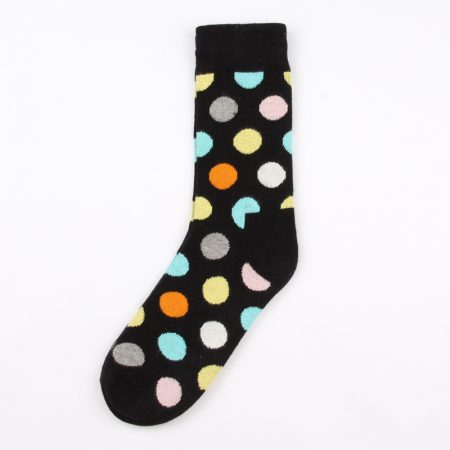 round blocks custom dress socks unisex-black