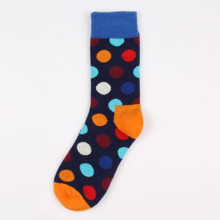 round blocks custom dress socks unisex-blue black