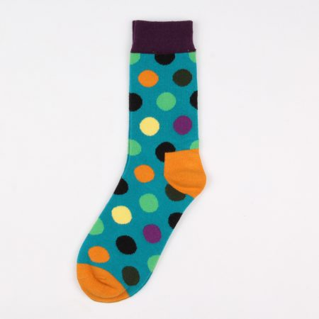 round blocks custom dress socks unisex-blue green