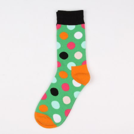 round blocks custom dress socks unisex-green black
