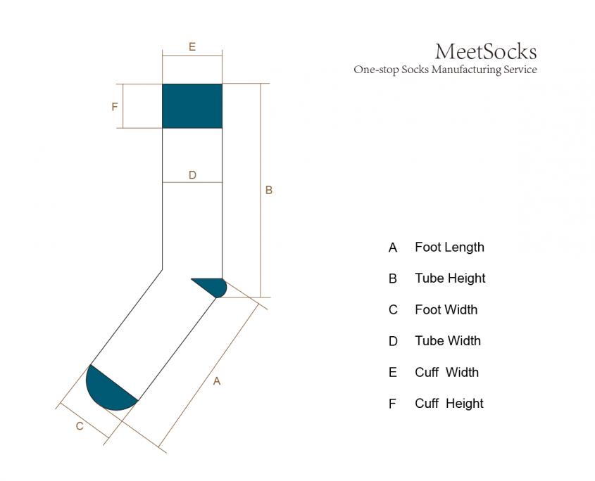 Sock size reference illustration