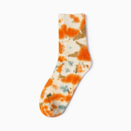 tie dye private label dress socks -orange